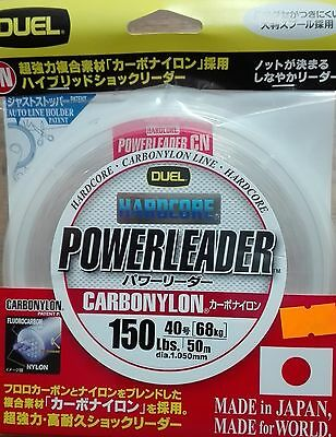 DUEL HARDCORE POWERLEADER CARBONYLON FLUOROCARBON 150lbs 50m dia. 1.050mm JAPAN