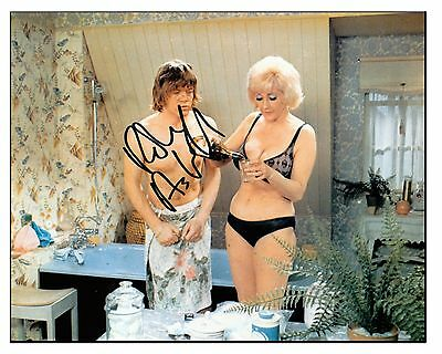 Confessions Film - Robin Askwith Signed 10X8 Photograph  Rare