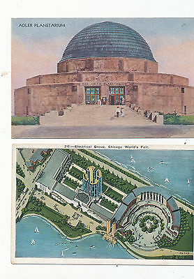 C3330  1933  2  Diff Chicago Worlds Fair Postcards  Adler -- Electrical