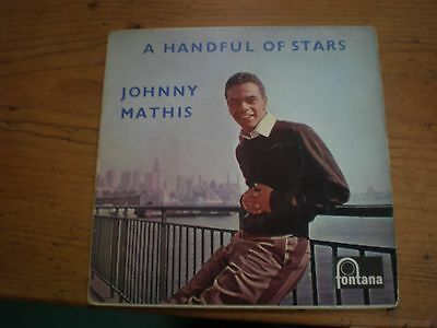 """Johnny Mathis - A Handful Of Stars, 4 Track Ep 7"""" Single Picture Sleeve"""