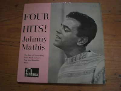 """Johnny Mathis -Four Hits, 4 Track Ep 7"""" Single Picture Sleeve"""