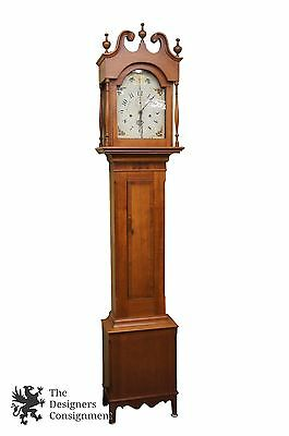 Luman Watson Antique 1819-1834 Grandfather Clock Wooden Works Chimes Cincinnati