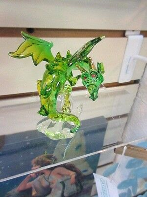 Beautiful hand blown hanging or table top Wizard Glass Dragon #2