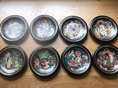 Set Of Eight Russian Legends Fairytale Plates