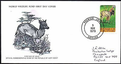 FDC - Ivory Coast - 1979 World Wildlife Fund, Jentink's Duike - First Day Cover