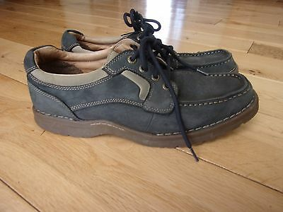 CLARKS CUSHION CELL Mens Grey Leather Lace Up Shoes size 7