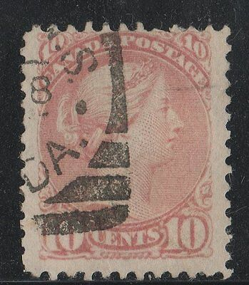 #45b Small Queen 10c Canada used