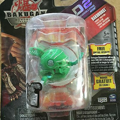 BAKUGAN D2 Bakudouble-Strike Green Ventus AVIOR Rare Retired SEALED 2010