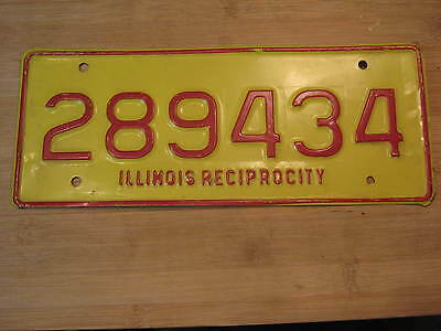 1960's illinois reciprocity commercial truck license plate EXPIRED 289 434