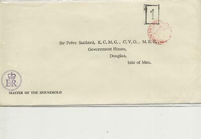 1970s Master of the Household embossed/cacheted envelope to Isle of Man Governor