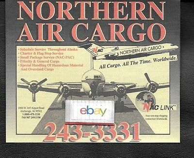 Nac Northern Air Cargo All Cargo All The Time Dc-6 & 727 Scheduled Service Ad