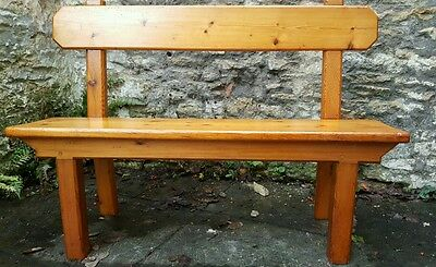 Antique church bench pew - wooden