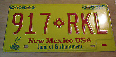1989 New Mexico License Plate Expired 917 Rkl
