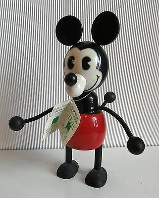vintage  large 10 inches WOOD  MICKEY MOUSE  DISNEY French  Vilac  bank  figure