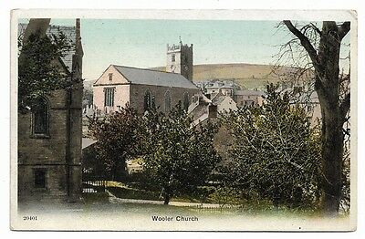 [1234] Northumberland Colored Postcard Wooler Church