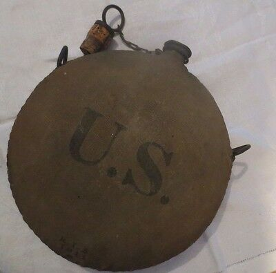 Rare  Pre-Ww1   Early  U.s.  Army  Ria  Round  Canteen  Dated 1911