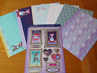Hunkydory Pampered Paws - Cool Cats - Die-Cut Toppers, Card, Papers & Inserts