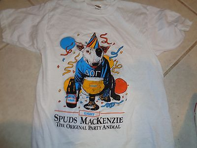 80s L Tag S fit VTG Spuds MacKenzie Bud Light Beer Soft Thin 50/50 t-shirt