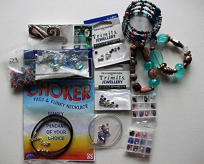 Mixed Lot Of Jewellery Making Items For Crafting