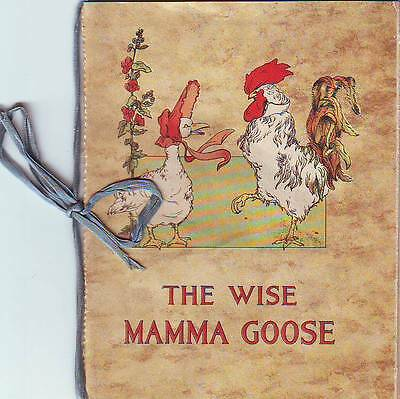 1916 The Wise Mama Goose Fairy Tales Booklet Illustrations Herr Beem Children