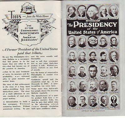 1927 U.s. Presidents Elections History Wives Booklet Illustrations Interesting!