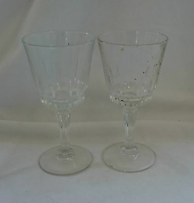 STUNNING Vintage Collectable PAIR Of TRADITIONAL Large CUT GLASS WINE GLASSES