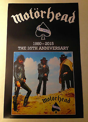 "MOTORHEAD 1 PROMO 11""x17"" Double-sided 2015 Poster for 35th Anniversary  NM+"