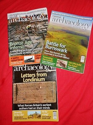 3X current archaeology magazines  july/aug 2016