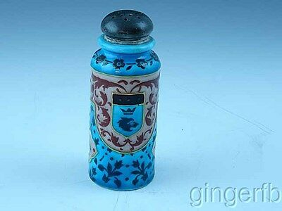 Antique Victorian Art Pottery Shaker German W Family Crest Free Shipping