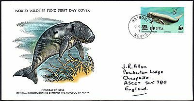 FDC - Kenya - 1977 World Wildlife Fund, The Dugong - First Day Cover