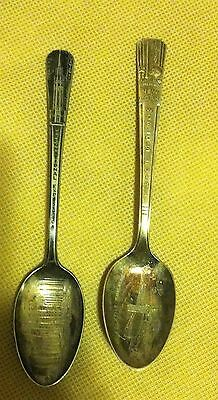 vintage 1939 worlds fairs souvenir silver spoons ny. & san francisco-one of each