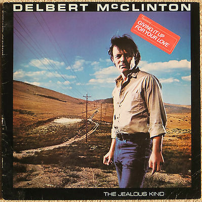 DELBERT McCLINTON - 2 vinyl UK LP's The Jealous Kind & Love Rustler (no sleeve)