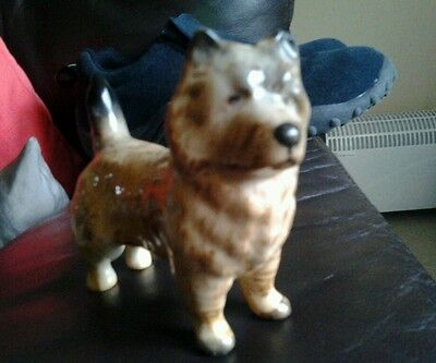 Lovely Beswick Cairn Terrier? Pottery Figure Chipped Ear