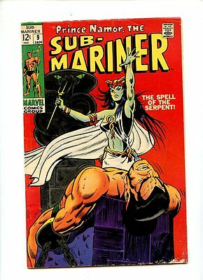 Sub-Mariner #9 (1968 Series) 1st Serpent appearance GD+