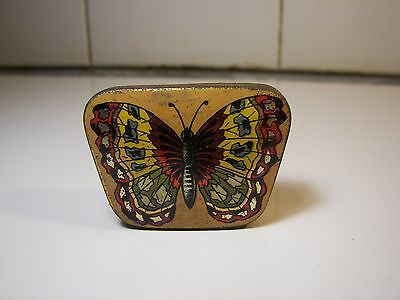 Rare Ad Sewing Hooks BUTTERFLY Tin 1900's Schmetterling Nähe Blechdose #3