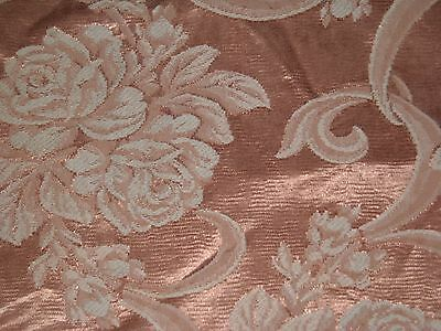 Vintage 40s Roses brocade jacquard fabric