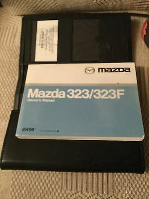 Mazda 323/323F Owners Manual & Leather/plastic Case