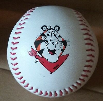 Tony the Tiger Signed Official Baseball Collectible Cereal Pawprint
