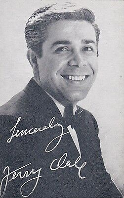 JERRY VALE -hollywood MOVIE/singing/recording  STAR 1950/60s arcade/exhibit card