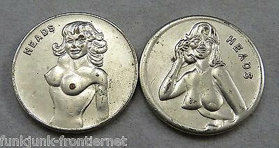 2 Vintage Flipping Coins