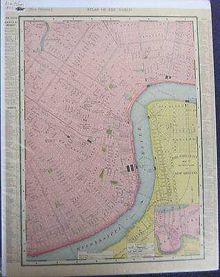Antique City Map of NEW ORLEANS 1895 Rand McNally