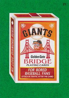 2016 Topps Wacky Packages Mlb - San Francisco Giants Bridge Playing Cards - Gg!