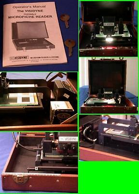 Vintage Visidyne Portable Microfiche Reader For Business, Library Or Inventory