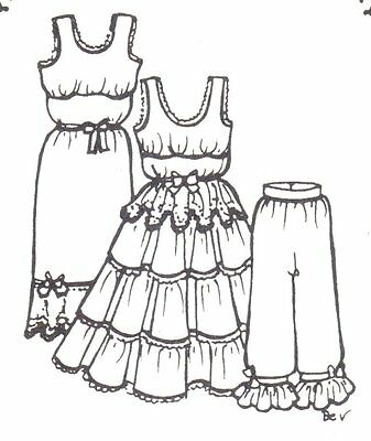 "See re-size chart. This Sewing  Under Clothes Pattern fits 24""  25"" dolls 41"