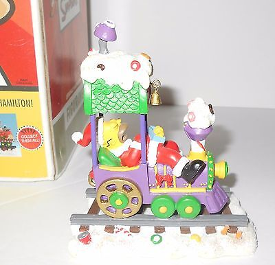 The Simpsons Asleep at the Wheel Christmas Express Train by Hamilton Collection