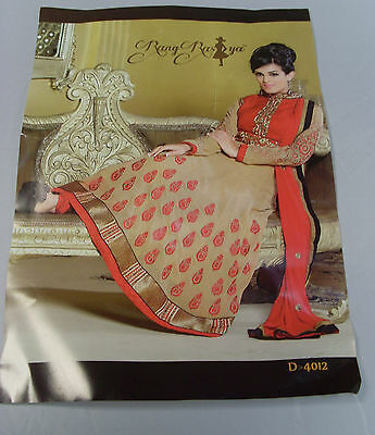 RangRasiya Red Gold Indian Asain Kameez Salwar Long Suit Wedding Box1247 a