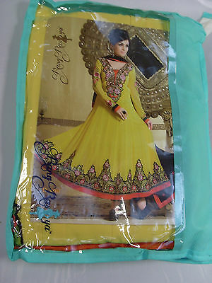 RangRasiya Yellow Salwar Kameez Partywear Long Suit Wedding Box1246 e