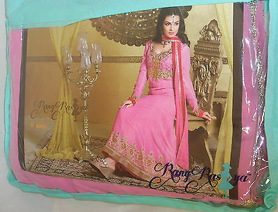 RangRasiya Kameez Salwar Long Suit Wedding Pink Gold Indian Asain Box1247 C