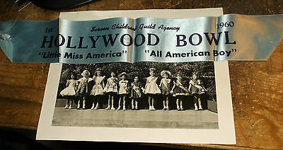 1961 Screen Children's Guild Agency Little Miss America Pageant Photo & Ribbon