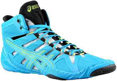 Nib Mens Asics Omniflex-Attack Wrestling Shoes 10 / 42.5 - Blue/lime - Authentic